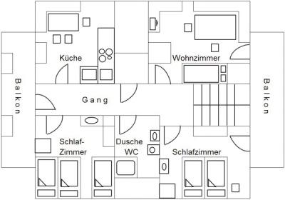 Plan Ferienwohnung Drei Linden